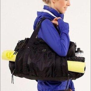 Black Lululemon Keep on Running Yoga Duffel Bag